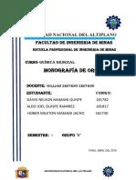 Monografia de Oro ( Quimica General )