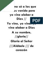 Letras de Coros Cristianos
