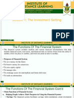 Module 1The Investment Setting. Investment Environment and Markets [Autosaved]