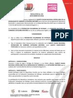 029 - Convoca a La v Valida Interclubes de Carreras de Mayores - Bogota