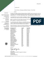 Torbini Team Invitation Letter to MATE Finals