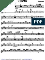 4 MENTIRAS - trumpet 1.pdf