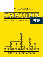 Calculus Basic Concepts for High Schools Tarasov 1988 Xelatex