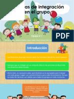 Técnicas de integración en el grupo