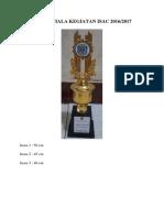 Desain Piala Kegiatan Isac