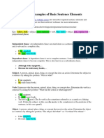 Basic Sentence Elements