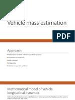 Vehicle Mass Estimation