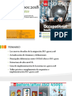 Capacitación interpretación ISO 45001 2018 TRANSICIÓN