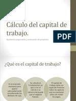 Cálculo Del Capital de Trabajo