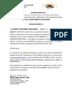 Carta de Invitación a Cotizar Plan Ambiental