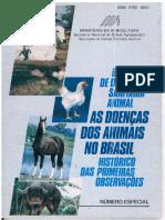 As Doencas Dos Animais No Brasil Historico Das Primeiras Observacoes