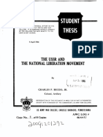 The USSR and the national liberation movement