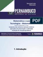 Conjuntos dos números racionais relativos  operações de potenciação e radiciação- resolução de situações problema.ppt