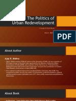 The Politics of Urban Redevelopment