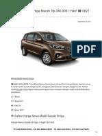 Rental & Sewa Suzuki Ertiga Harian Murah ☎ 0821 1313 0173 TravelBos.id