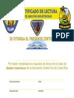 1-Certificado de LECTURA de Abejitas Industriosas. a.C.S.C.R