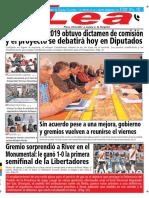 Periódico Lea Miércoles 23 de Octubre Del 2018