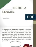 Unidades de La Lengua