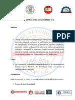 Normas y Reglamento 2018 Copa Karting