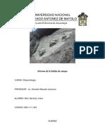 Informe de Salida de Campo Paleontologia