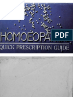 HOMEO HANDBOOK Quick Prescription Guide
