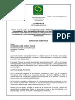 El Acuerdo 014 de 2012