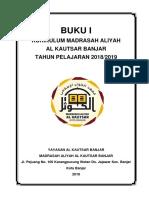 Cover Buku I Kurikulum MA Al Kautsar