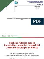 Políticas Públicas Para La Prevención y Atención Integral Del Consumo de Drogas En