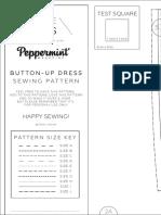 a4 Pattern Button Up Dress