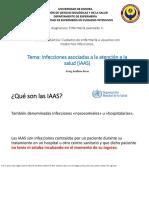 Infecciones Asociadas a la Atención de la Salud (IAAS)
