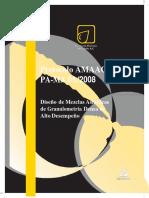 Diseño de Mezclas Asfálticas de Granulometría Densa de Alto Desempeño
