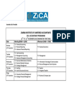 December 2016 Timetable ZICAACC