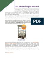 Mesin Pengukus Bakpao Dengan WYD