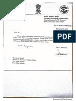 Correspondence between CVC, CBI and Sanjay Singh, MP, on Rafale probe