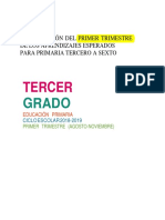 Aprendizajes 3-6 Primer Trimestre