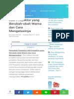 Penyebab Lcd Proyektor Berubah Warna.html
