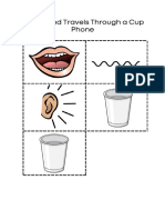 how sound travels through a cup phone