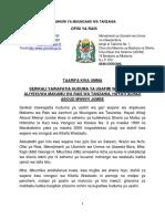 Taarifa Kwa Umma-ziara Ya Mkuchika Kwa Wajane Wa Jumbe (1)