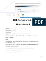 OSE Security Suite User Manual