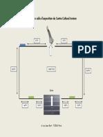 Plan de La Salle d'Exposition Du Centre Culturel Iranien