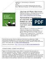 Automated management of nutrient solutions based on target electrical conductivity, ph, and nutrient concentration ratios
