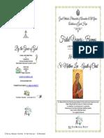 2018 -16 Nov- Vespers-st Matthew Levi Apostle