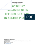 Inventory Management in Thermal Stations in Andhra Pradesh [www.writekraft.com]