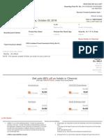 Madurai - Chenai Ticket