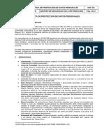 PL-GSI-15 Politica de Proteccion de Datos Personales