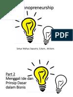 Part 2 - Menggali Ide Dan Prinsip Dasar Dalam Bisnis