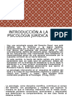 Introducción a La Psicología Jurídica