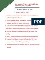 Functions of Iqac Smce