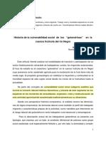 Historia de La Vulnerabilidad Social de Los Golondrinas en La Cuenca Frutihortícola
