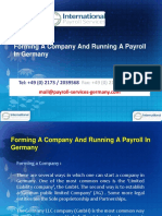 Forming a Company and Running a Payroll in Germany